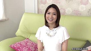 Torrid Japanese unilluminated Mikuni Maisaki has a splendid time while masturbating