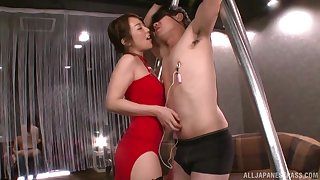 Inside Japanese woman strips to take cock in the ass