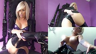 Zoe about Black Dress and Black Stockings - LatexHeavenVideo