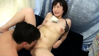 Doggystyle beloved Japanese titties masturbating