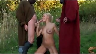 Horny knights fuck ladies in hardcore like