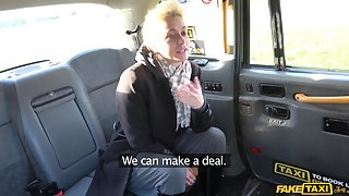 British slut Mila Milan decides to urgency the taxi driver's fat dick