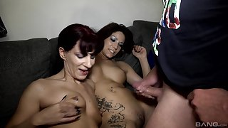 German fuck fest with grown up sluts Samy Saint & Natalie Hot
