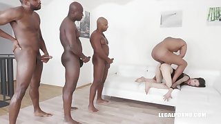 Ciara Riviera is trying an interracial DAP not later than a group sex session, and enjoying it a lot