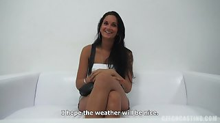 Hot young girl casting interview