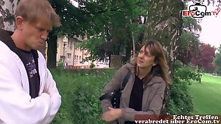 German habituated girl at public pick up
