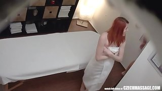 Red-Haired Teenage has Chunky Unprotected FUCK-A-THON down Masseuse