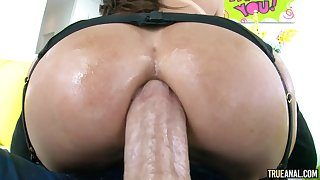Oiled close to nympho with big anal gawp likes it rough and deep. Dayum!