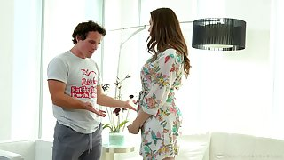 Stepson is creativity super glum stepmom Chanel Preston in the shower