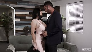 Passionate MILF Romi Rain goes crazy about topping fat cock for orgasm
