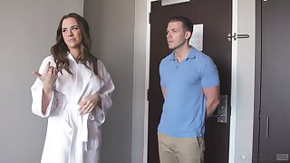 Chanel Preston comes to get a kneading and gets fucked hard
