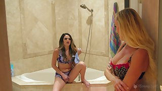 Super MILF catches her stepdaughter sniffing her used smalls